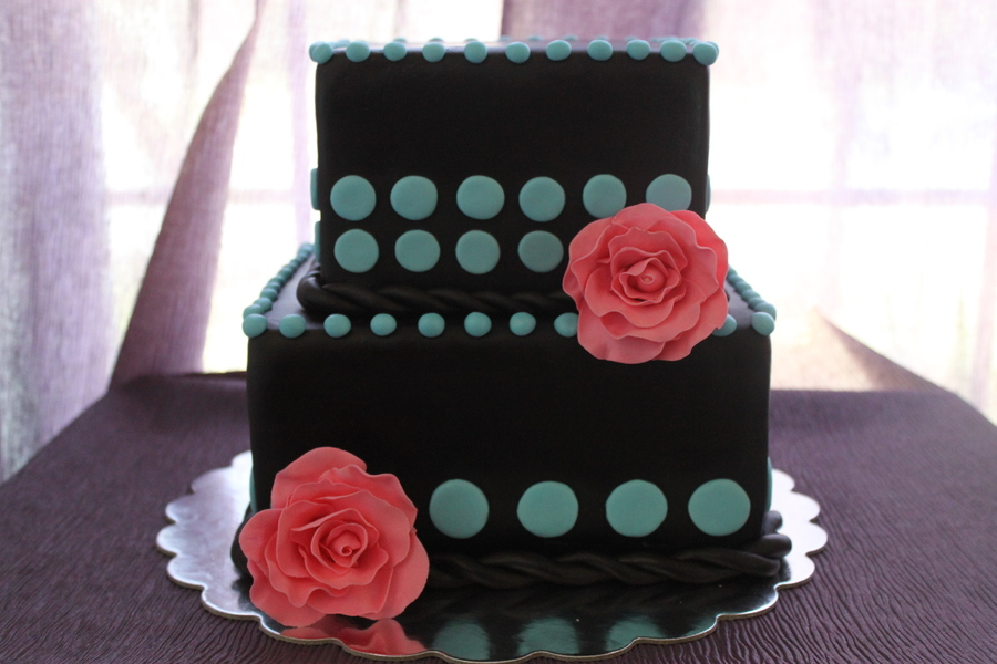 Pink, Blue And Chocolate on Cake Central