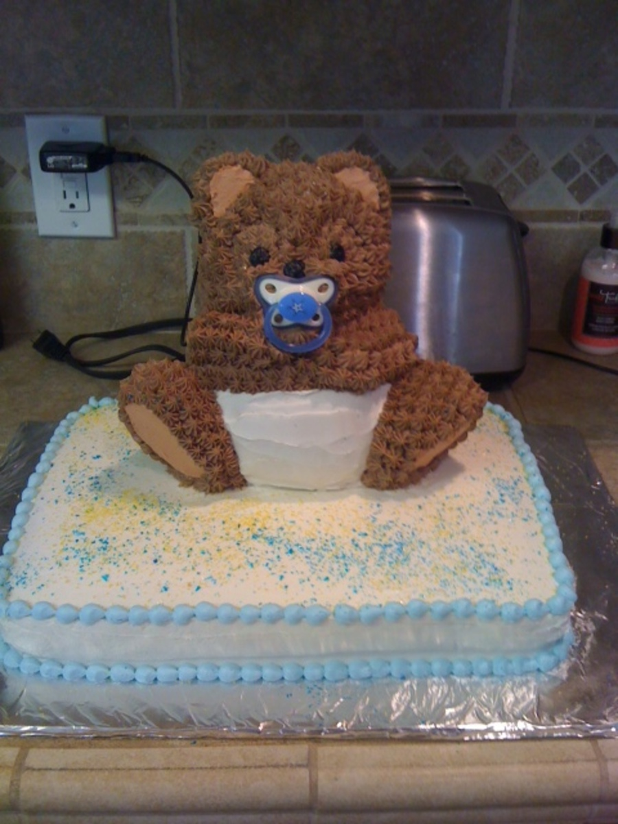 Bear Baby Shower Cake on Cake Central