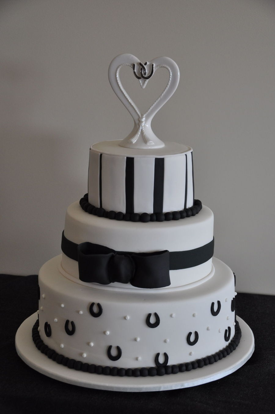 Black And White Horse Theme Wedding Cake on Cake Central