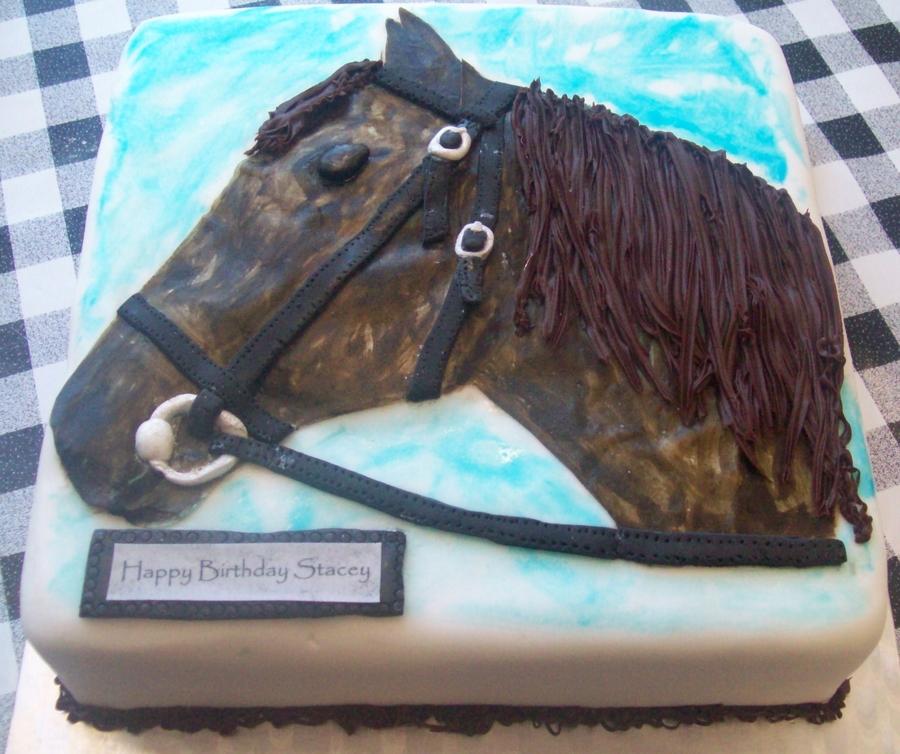 Horse Head Birthday Cake CakeCentralcom