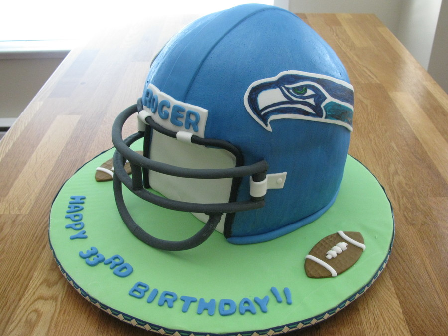 Seahawks Helmet on Cake Central