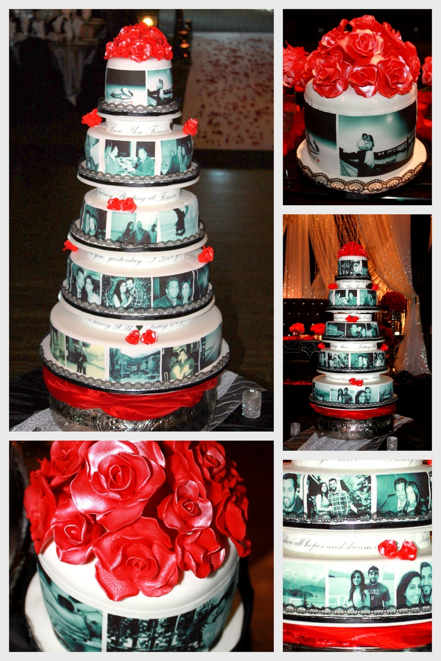 Edible Photo Wedding Cake - CakeCentral.com