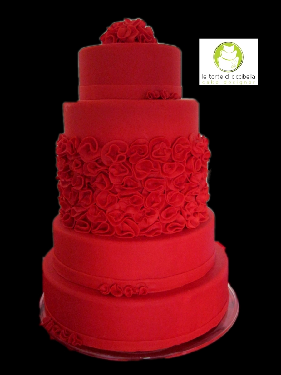 Wedding Cake Red Passion on Cake Central