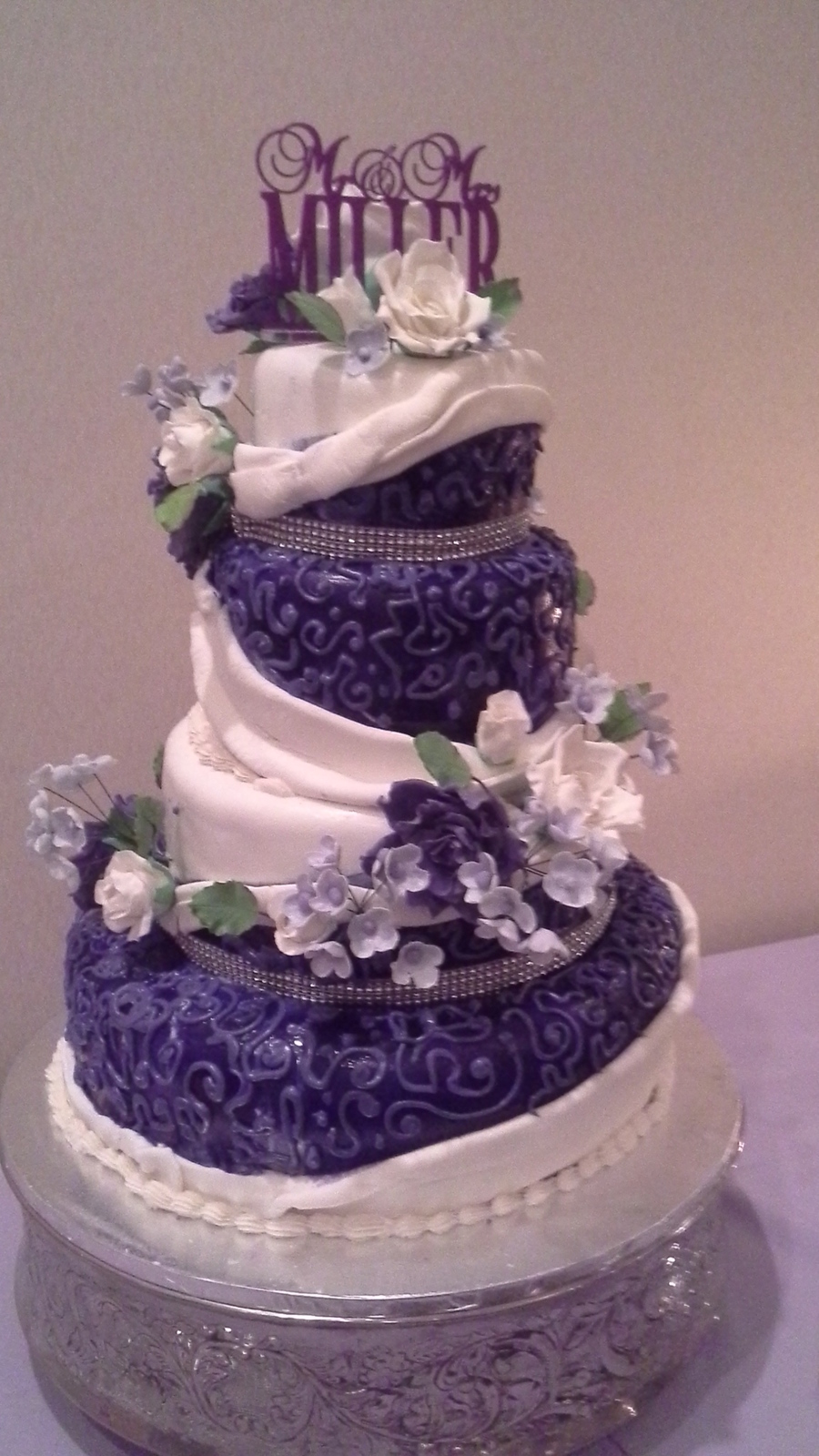 violet and white wedding cake purple and white wedding cake cakecentral 21620