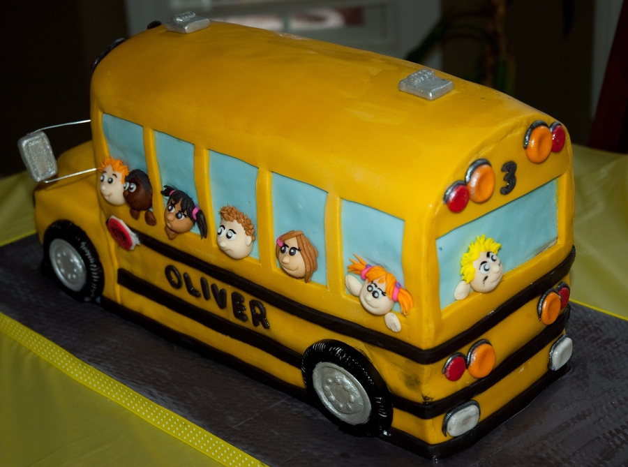 Yellow School Bus Birthday Cakes