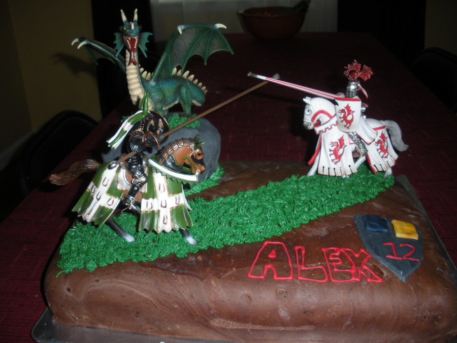 Medieval Birthday Cake on Cake Central