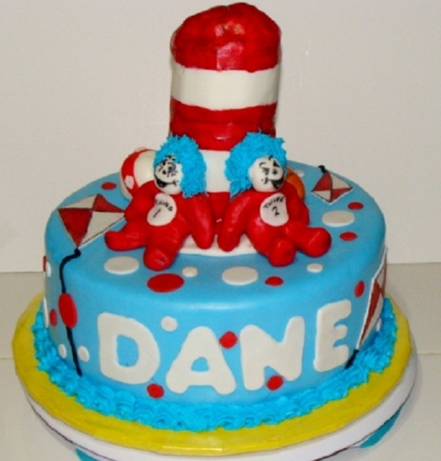 Cat In The Hat Theme Cake on Cake Central