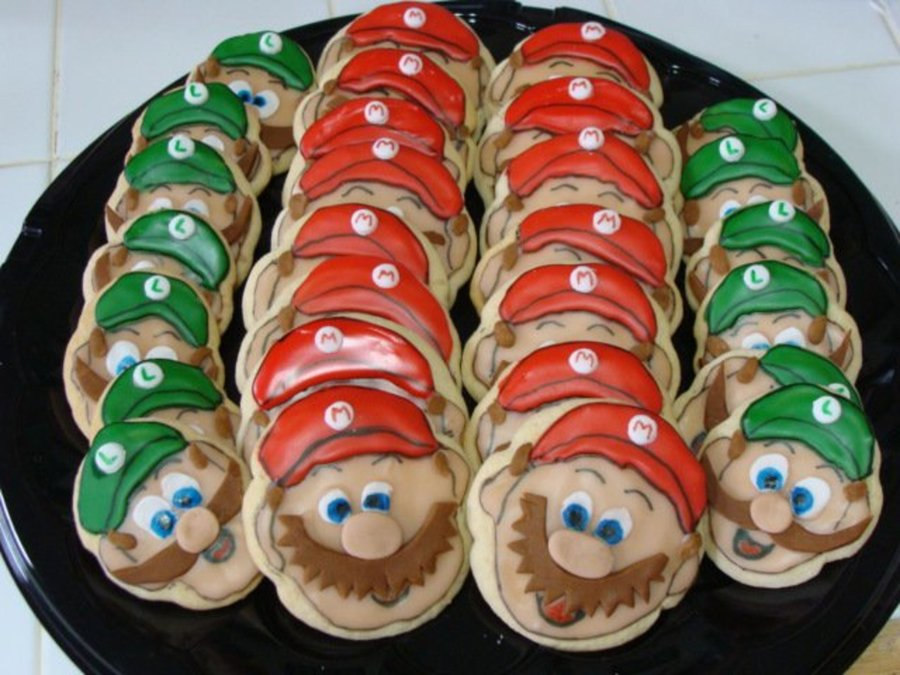 Mario Brothers Cookies on Cake Central