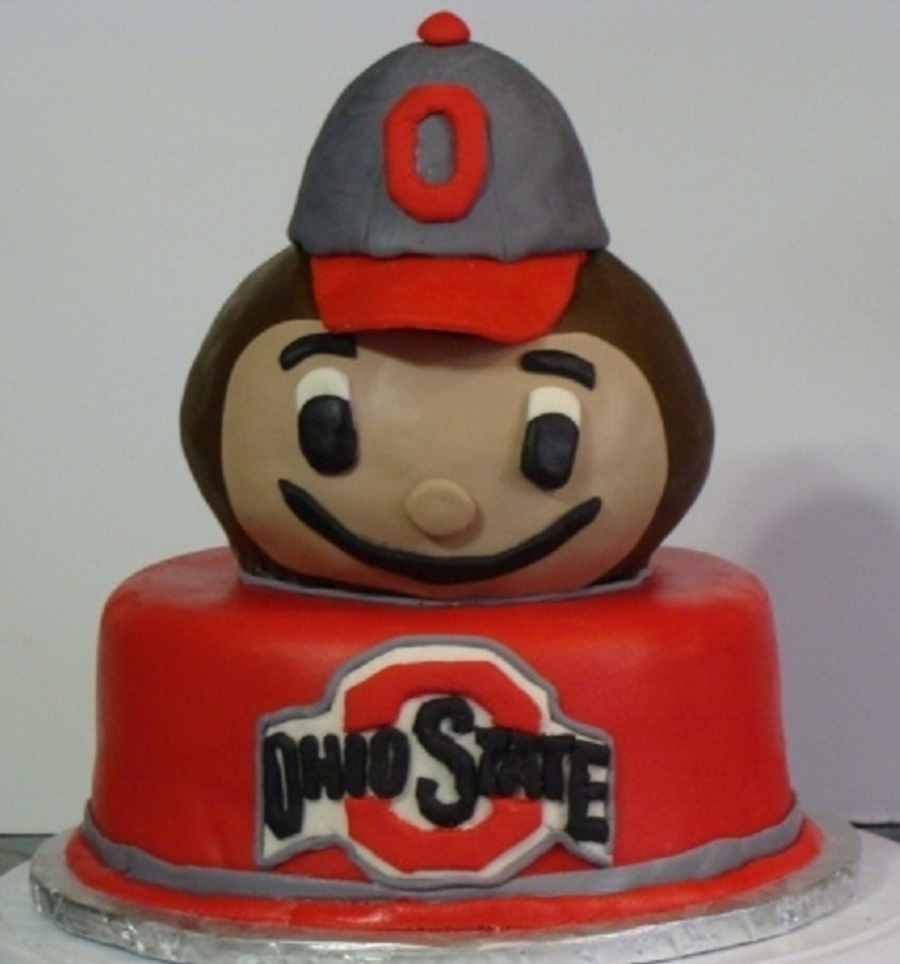 Ohio State Buckeyes Brutus The Buckeye Cake  on Cake Central