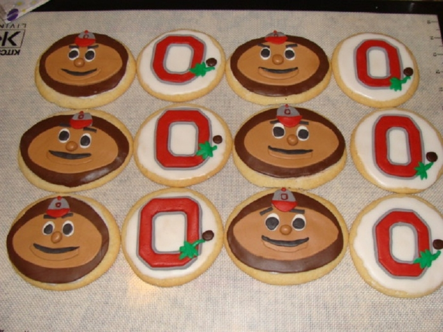 Ohio State Buckeye Cookies on Cake Central