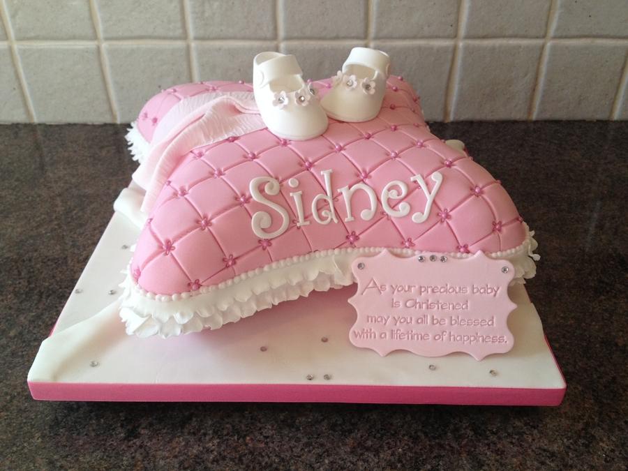 Asda Christening Cake Decorations : Christening Pillow Cake - CakeCentral.com