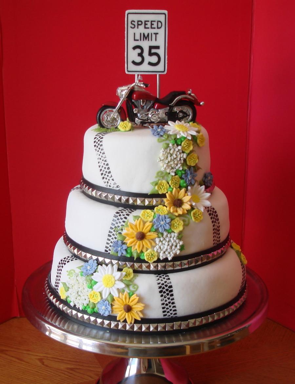 Th Birthday Motorcycle Cake