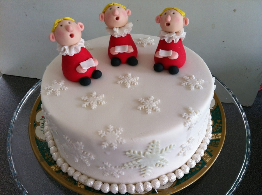 Choir Boys Singing Christmas Carols  on Cake Central