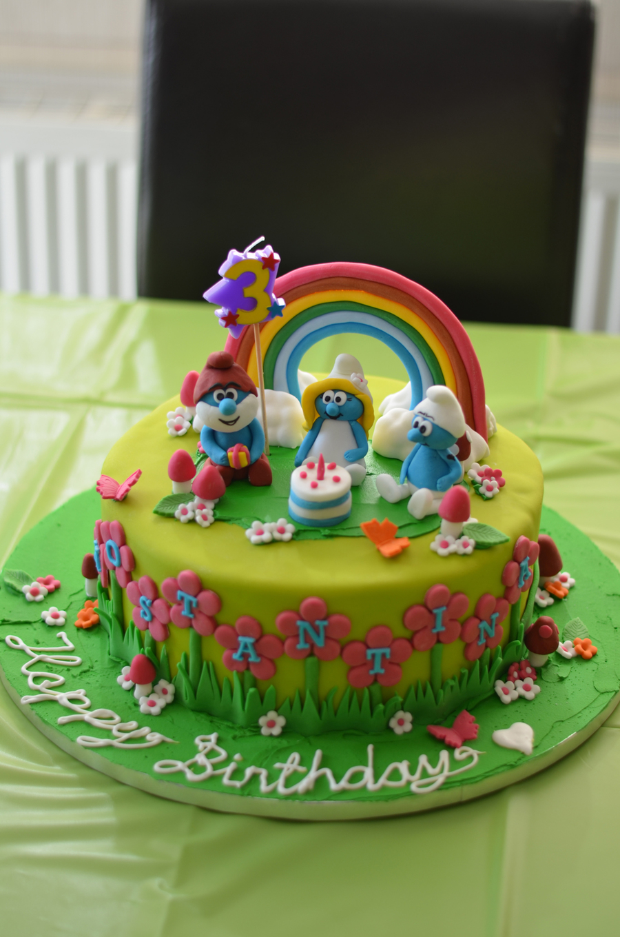 Marvelous Smurf Birthday Cake Cakecentral Com Funny Birthday Cards Online Overcheapnameinfo