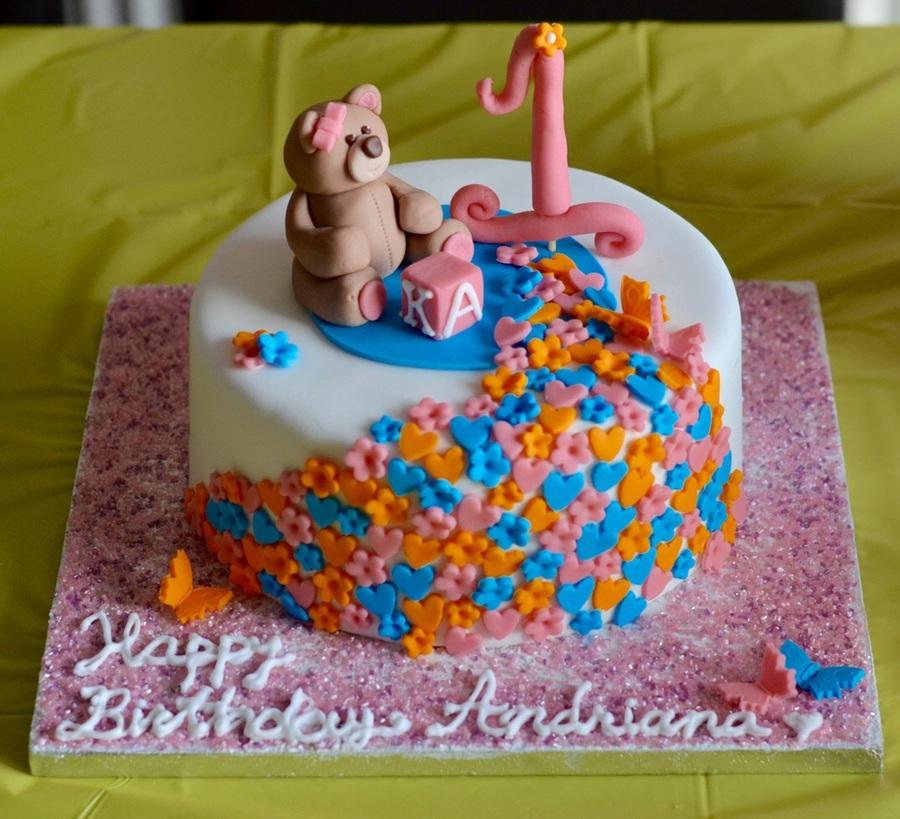 1st birthday fondant covered cake decorations are fondant for Decorating 1st birthday cake
