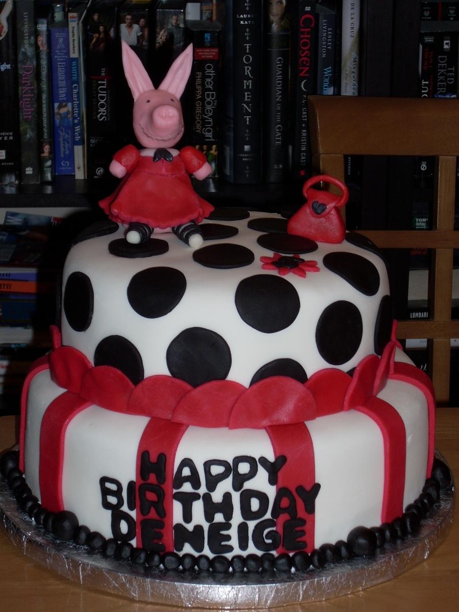 Brilliant Pink Piggy Birthday Cake Cakecentral Com Funny Birthday Cards Online Necthendildamsfinfo