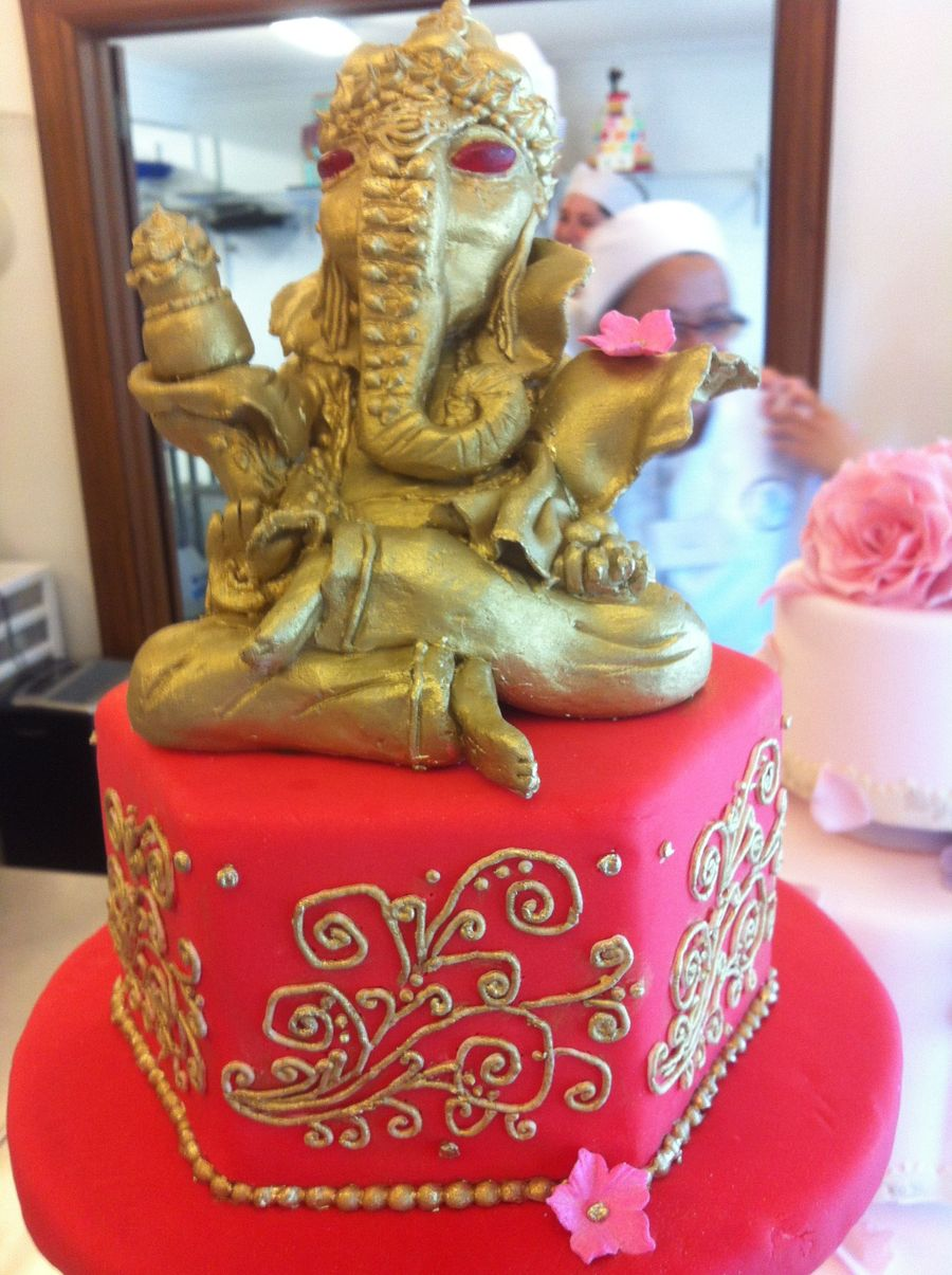 Indian Themed Wedding Cake CakeCentralcom
