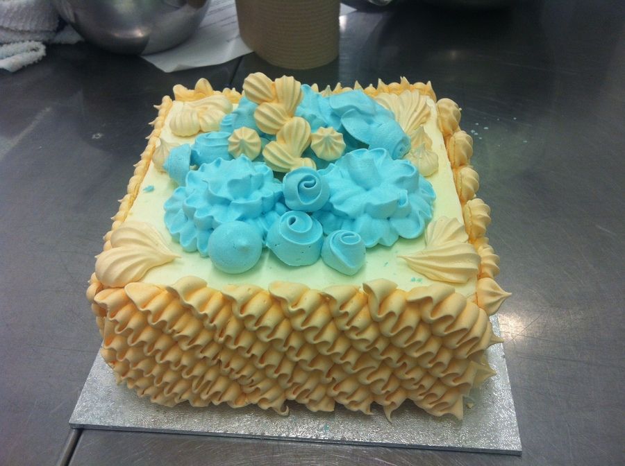 Piping With Meringuebeach Themed Cake on Cake Central