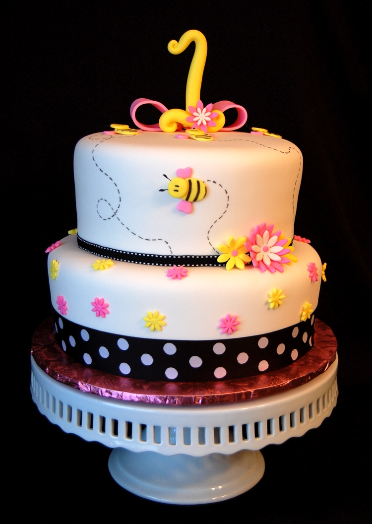 Bumble Bee 1St Brthday Cake  on Cake Central