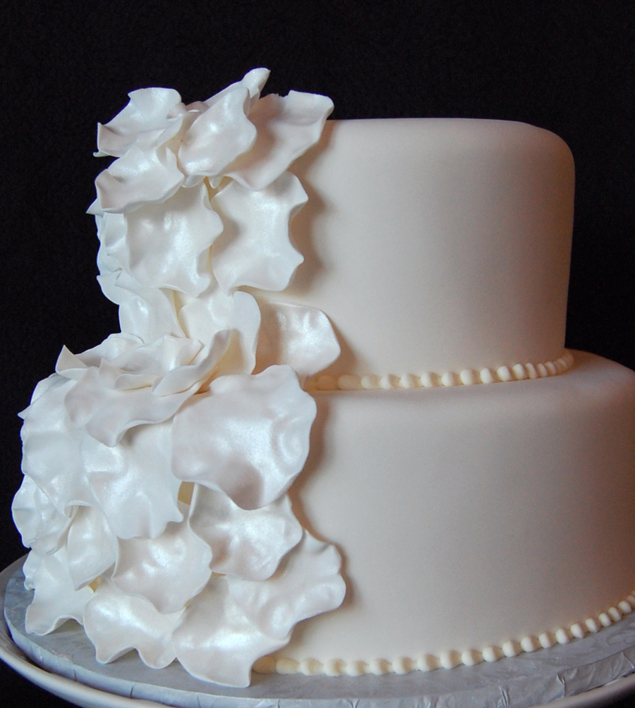 Sugar Flower Petal Wedding Cake on Cake Central