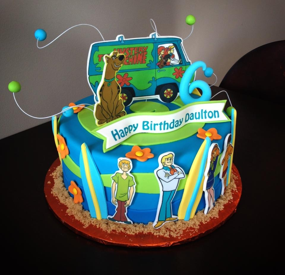 Scooby Doo Mystery Machine Cake Beach Theme With Fondant And Edible Images on Cake Central