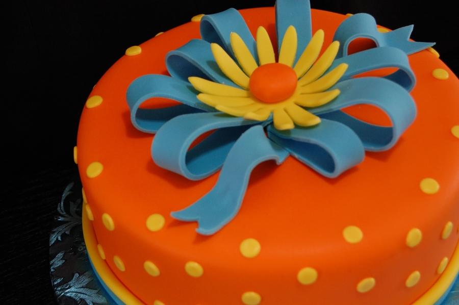 Sensational Birthday Cake With Blue Bow Cakecentral Com Funny Birthday Cards Online Aeocydamsfinfo