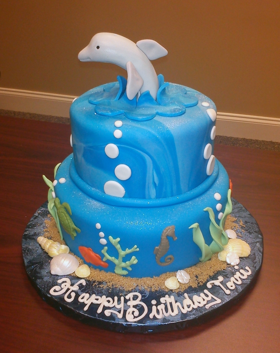 Dolphin Sea Birthday Cake on Cake Central