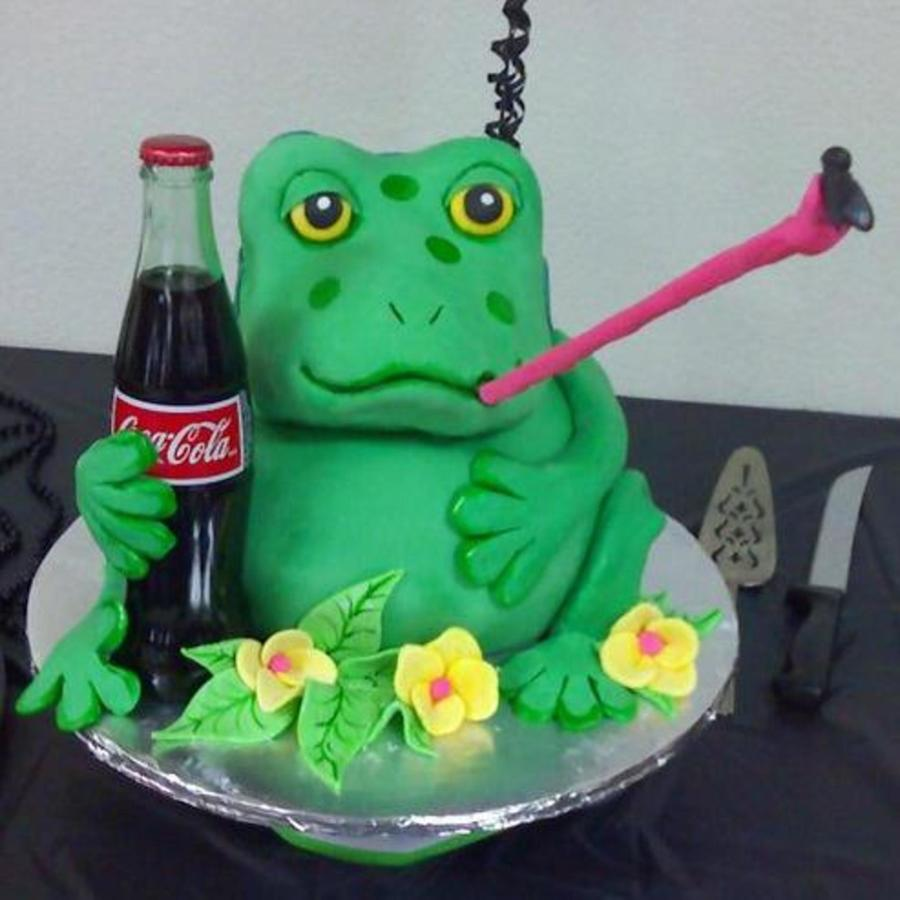 A Cake For A Friend That Loves Coca Cola And Frogs This Is ...