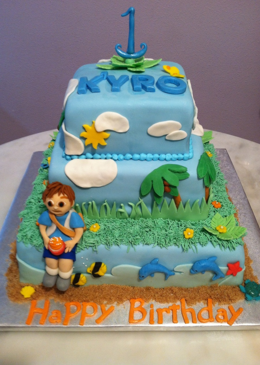 Excellent Sky Jungle And Ocean Surround Diago In This 1 Year Olds Birthday Funny Birthday Cards Online Alyptdamsfinfo