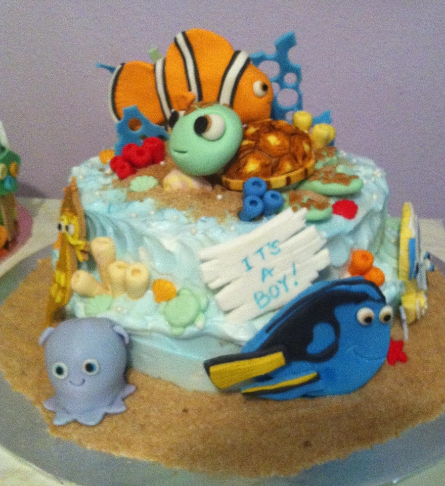 Finding Nemo Baby Shower Cake on Cake Central