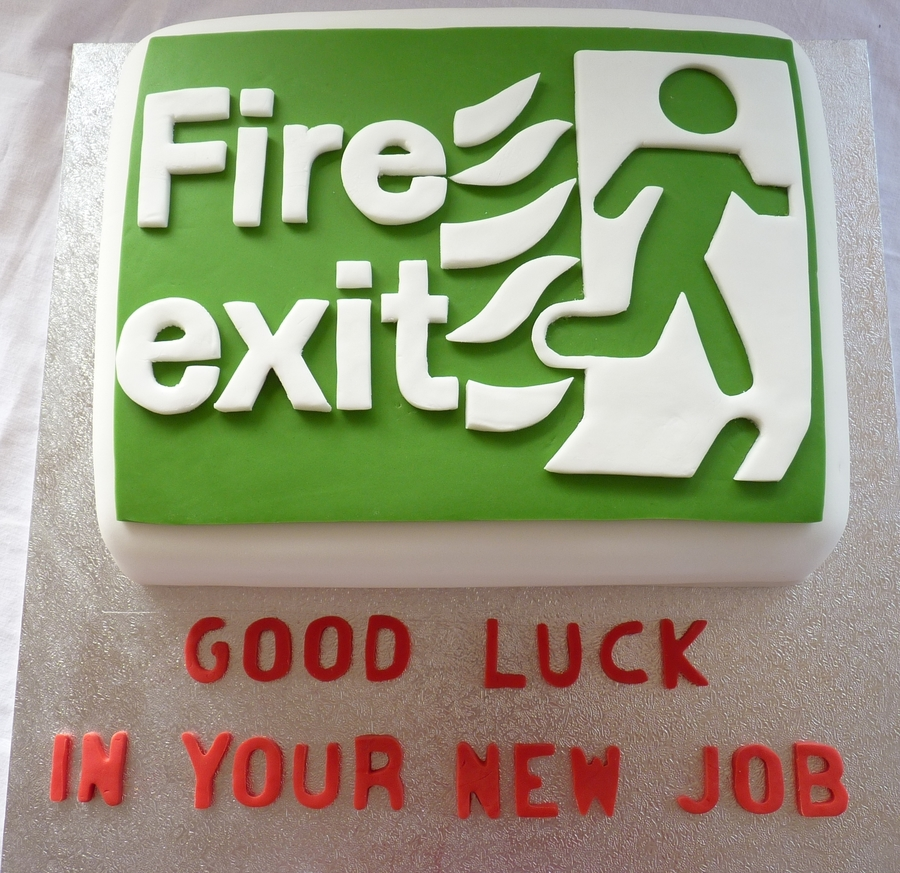 Fire Exit on Cake Central