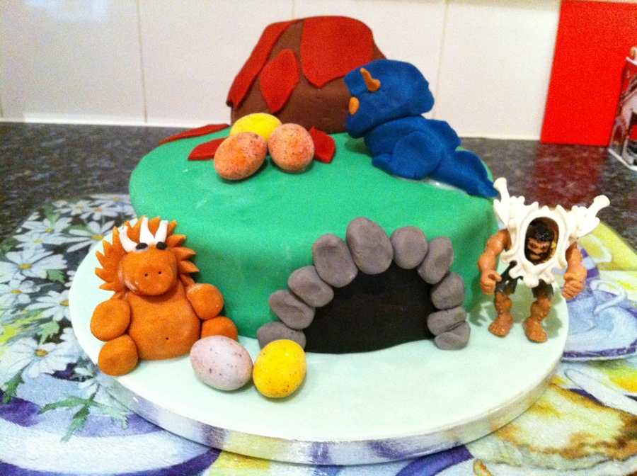 Dinosaur Cake With Volcano on Cake Central