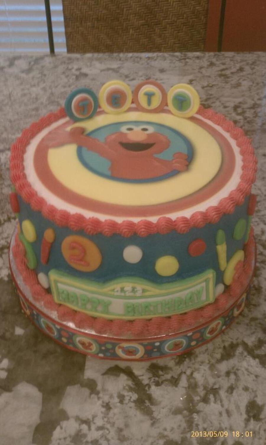 Elmo Birthday Cake For The 2 Yr Old Nephew Of A Friend Of Mine