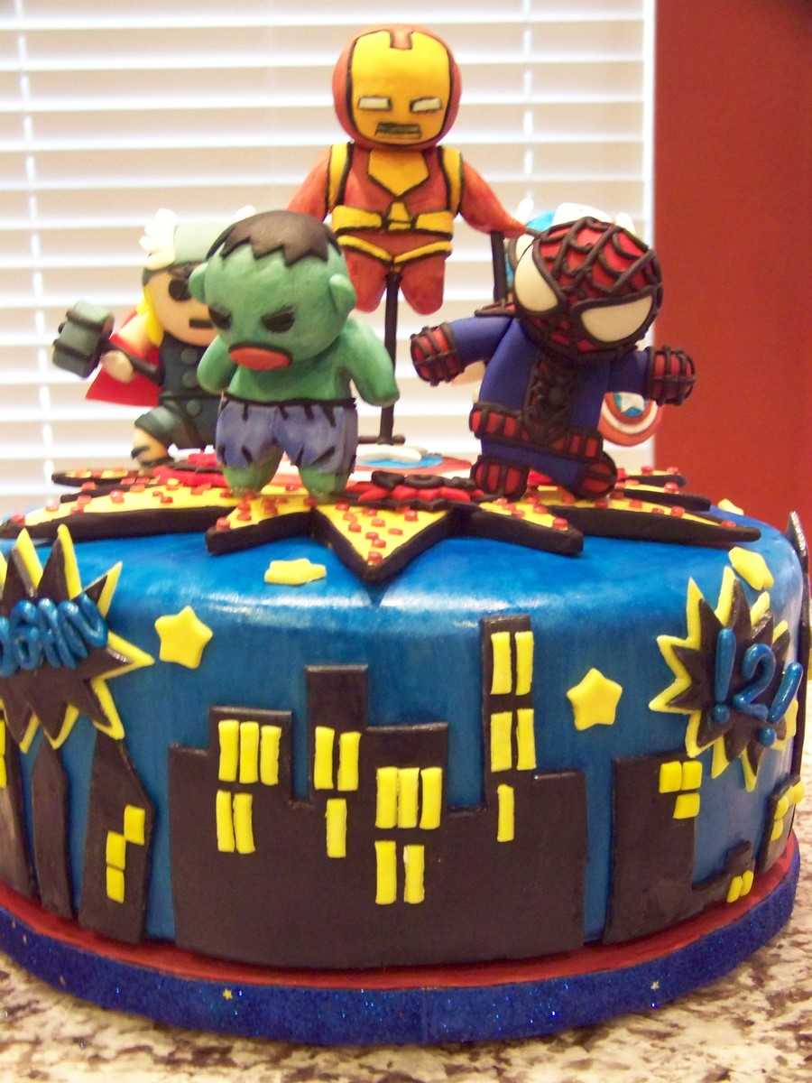 Marvel Comics Birthday Cake