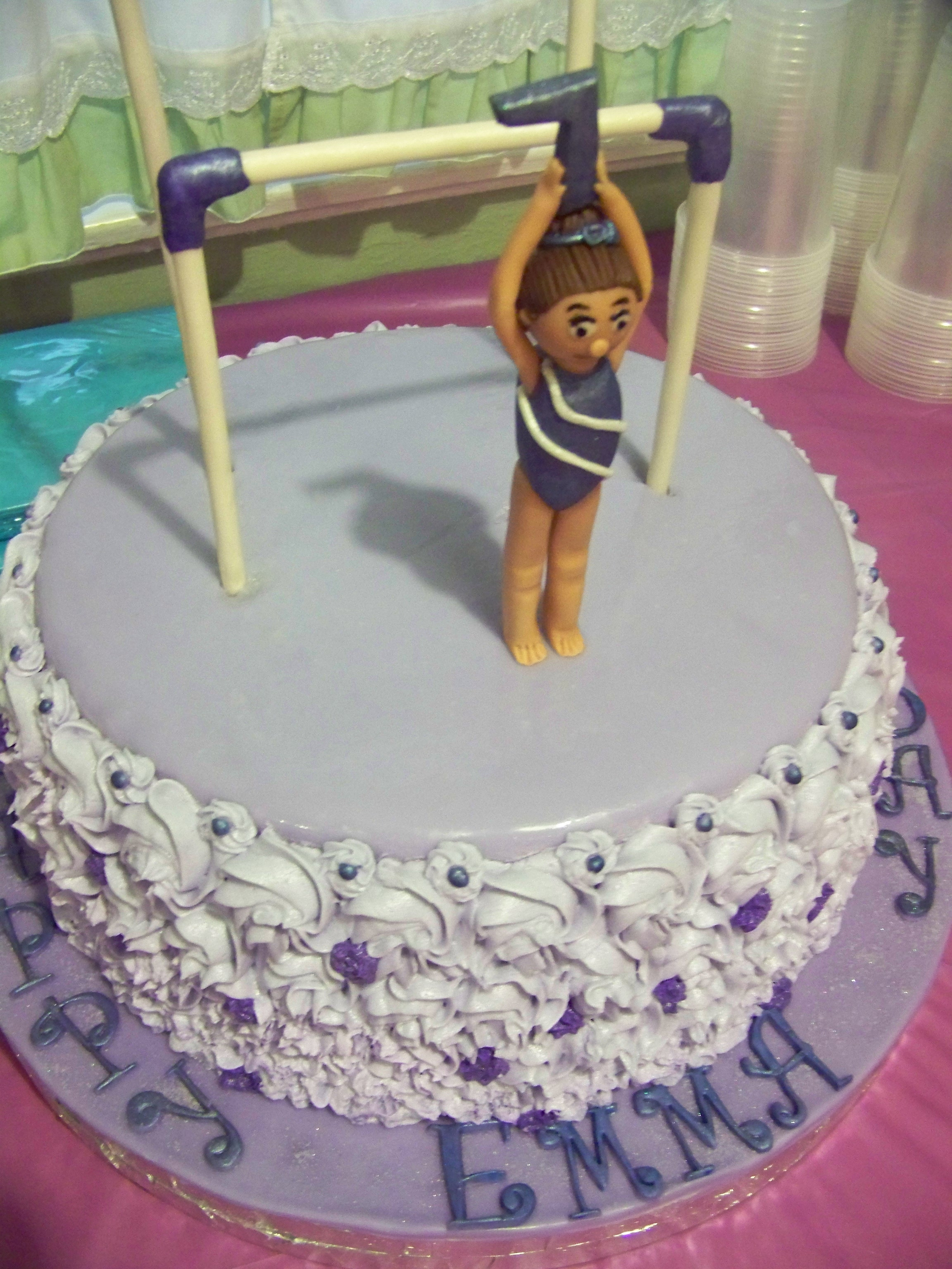 Cake Decorating Ideas Gymnastics : Gymnastics Birthday Cake - CakeCentral.com
