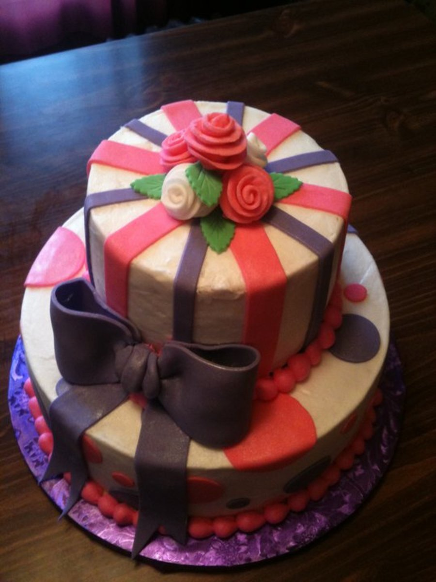 Pink And Purple on Cake Central
