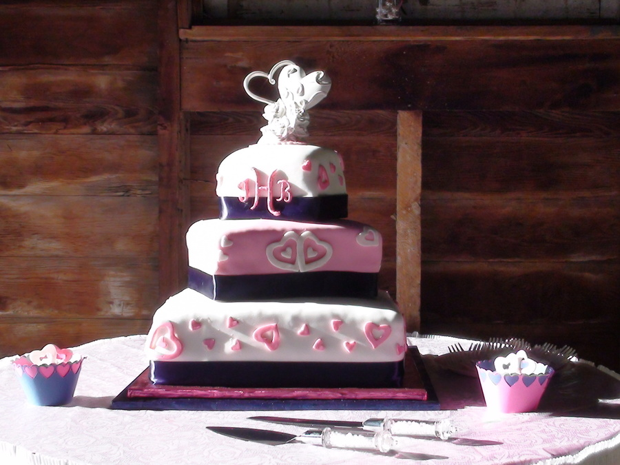 Hot Pink And Navy Cakecentral Com