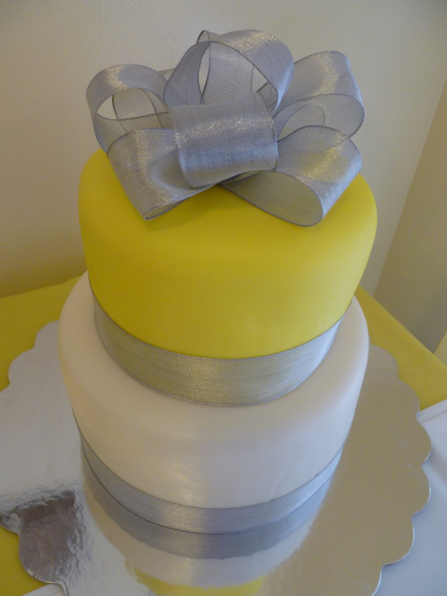 Yellow Silver White Baby Shower