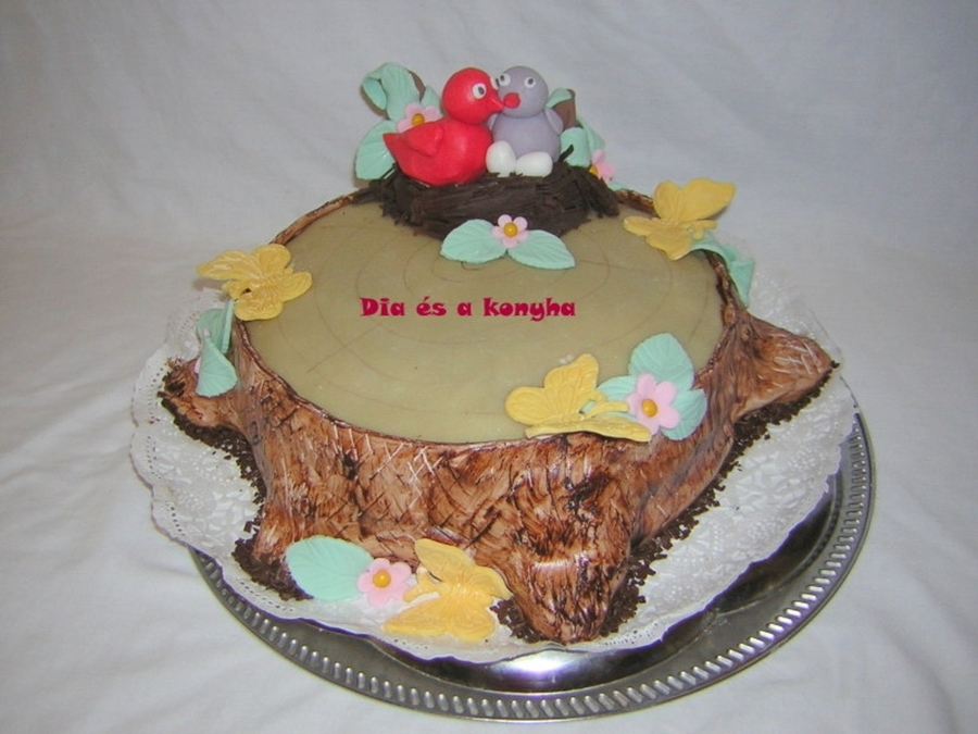 Bird Nests On Tree Trunks Cake on Cake Central