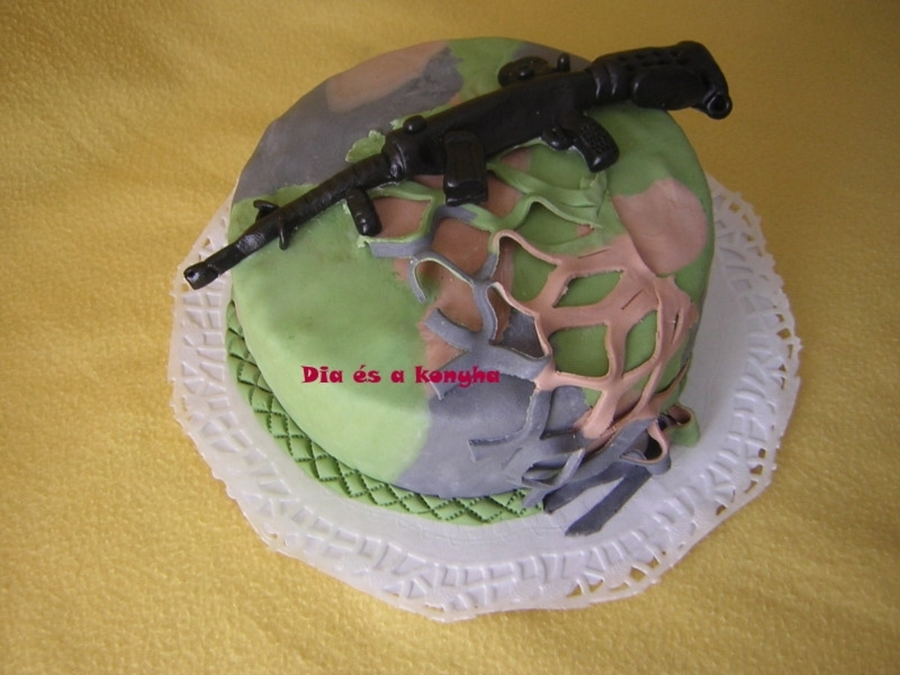 Military Theme Cake on Cake Central