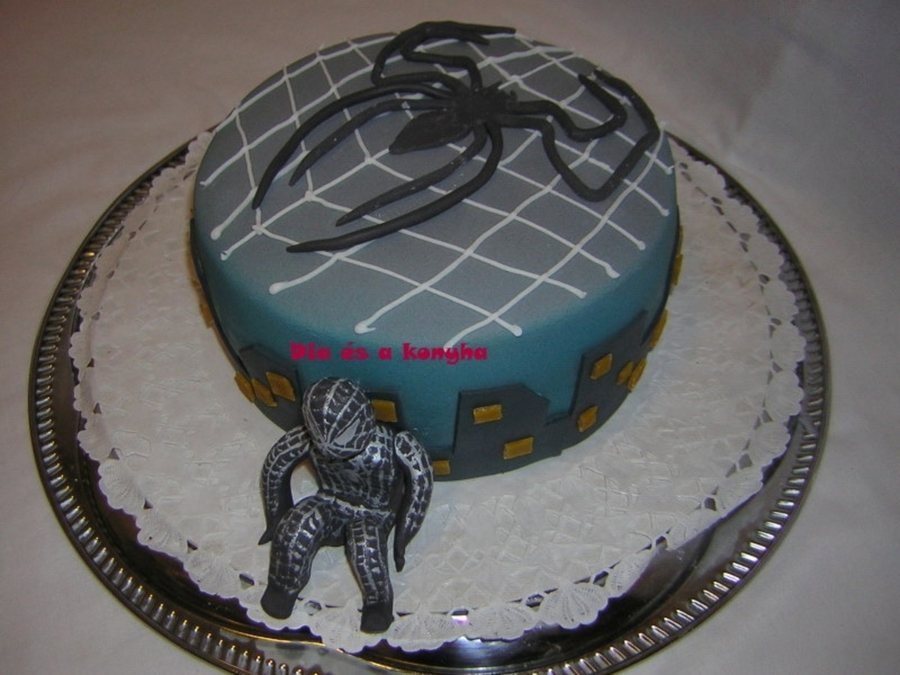 Black spiderman cakes - photo#54
