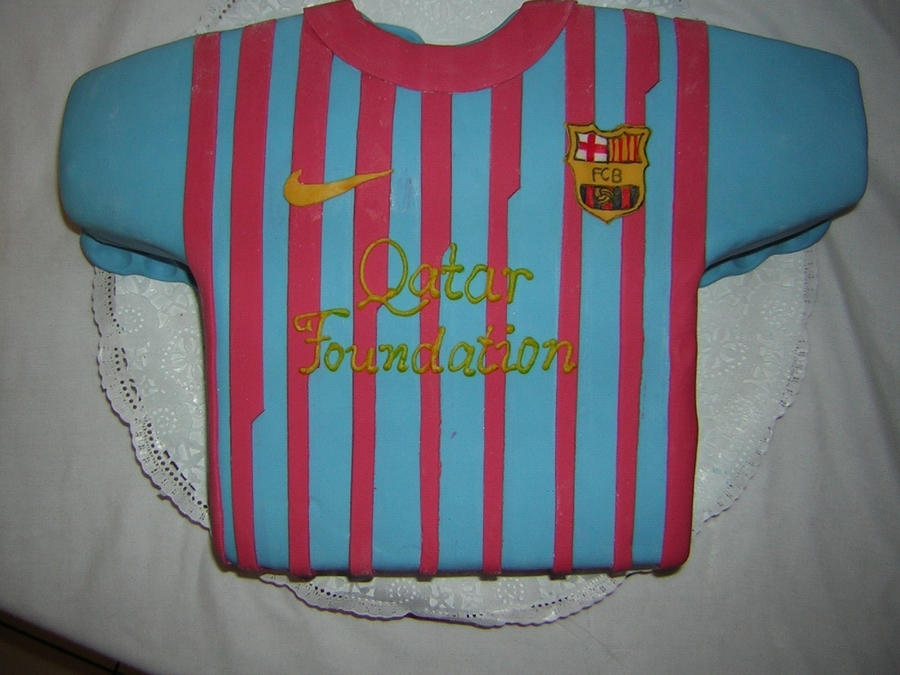 Barcelona Shirt Cake on Cake Central