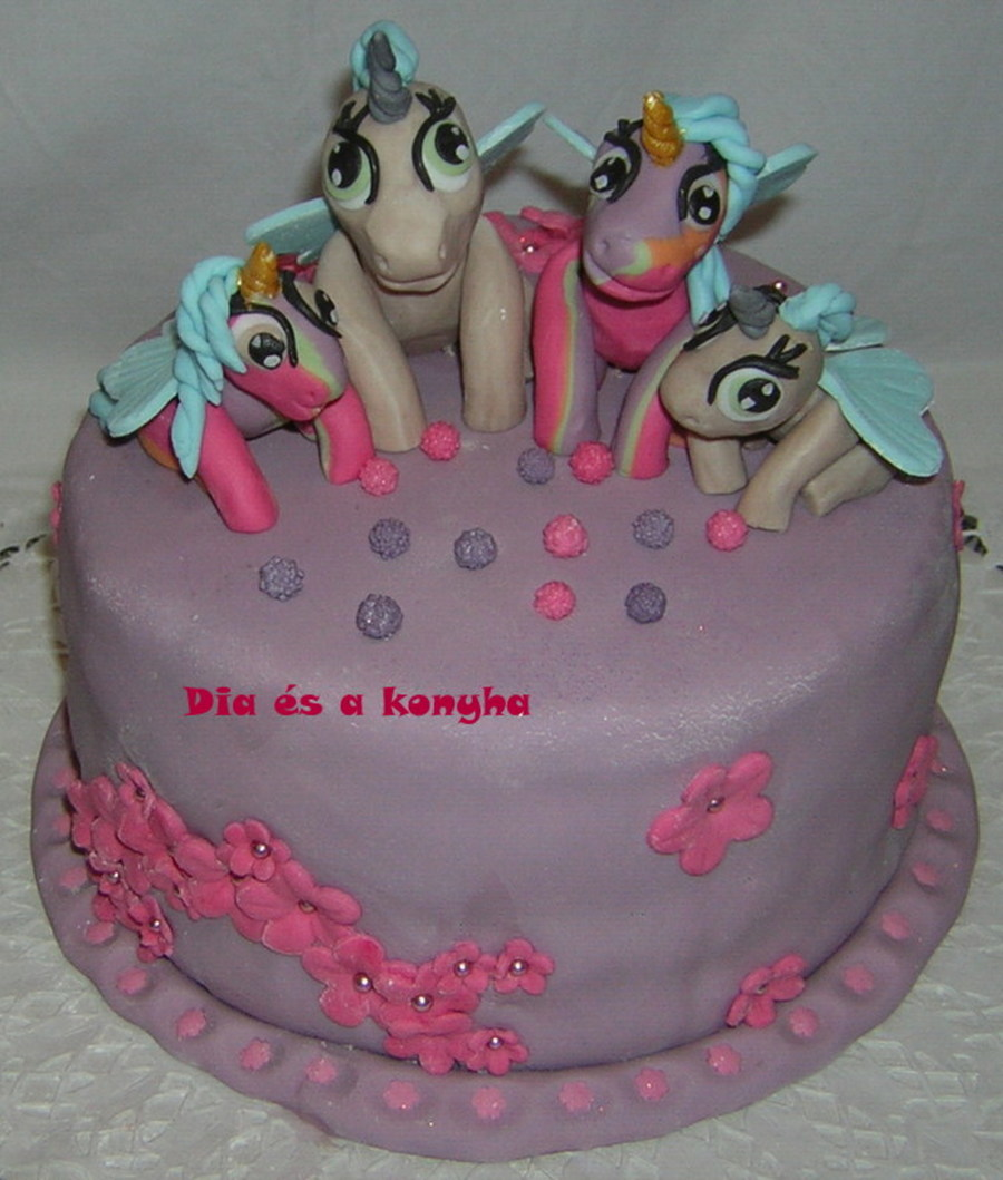 Pegasus Family Cake  on Cake Central