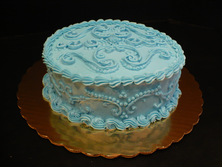 Blue Overpiping on Cake Central