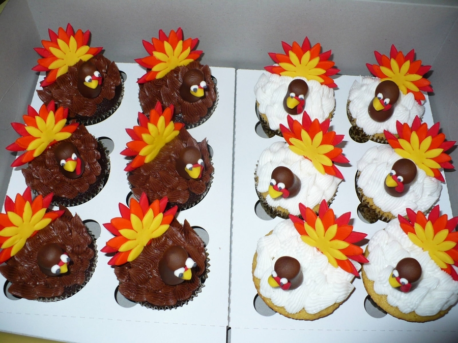 Turkey Cupcakes - Chocolate And Vanilla on Cake Central