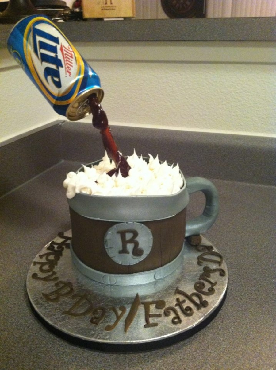 Beer Mug/ Floating Beer Cake on Cake Central