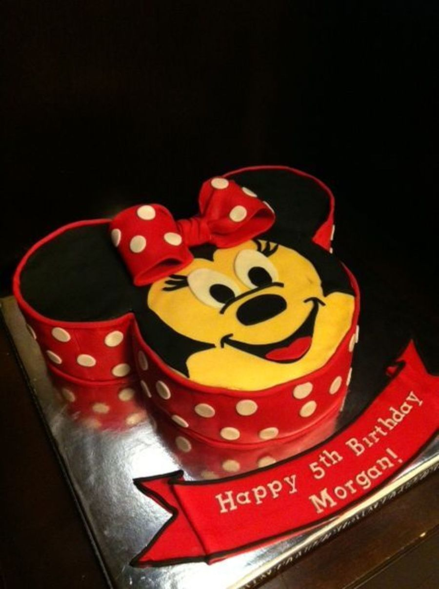Surprising Minnie Mouse Birthday Cake Ears Are Made With 6 Circle Pan And Funny Birthday Cards Online Barepcheapnameinfo