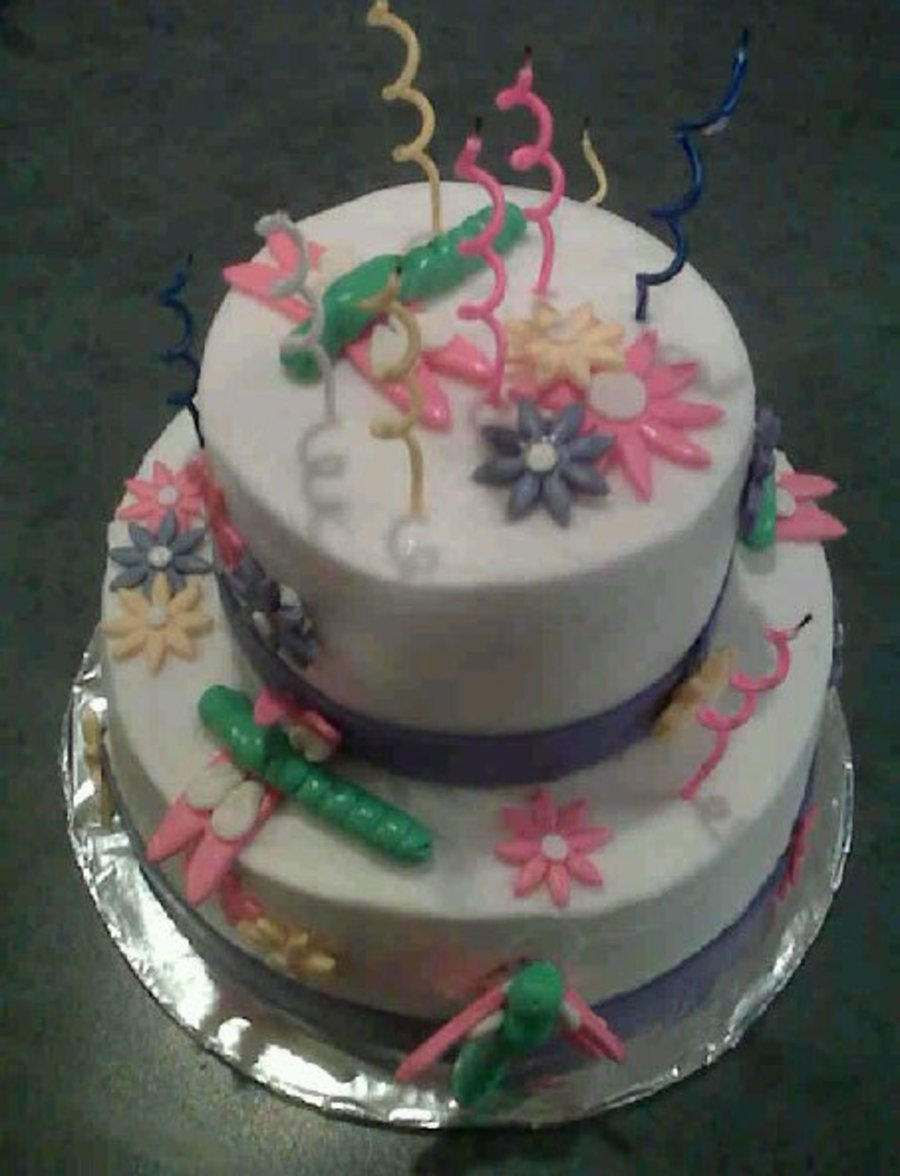 Dragonfly Birthday Cake! on Cake Central