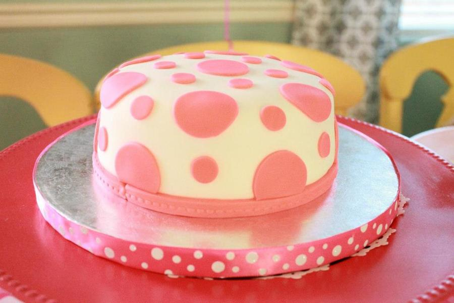 Pink Polka Dot Smash Cake For 1St Birthday on Cake Central