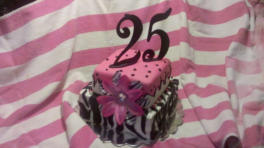 Zebra And Pink Birthday Cake on Cake Central
